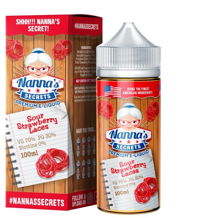 Sour Strawberry Laces Shortfill by Nannas Secrets