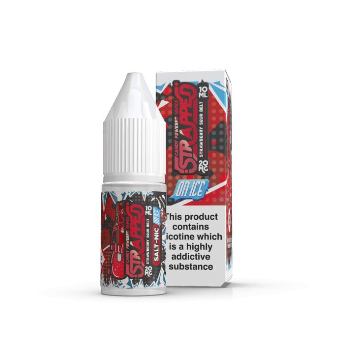 Strawberry Sour Belt On Ice Nicotine Salt by Strapped