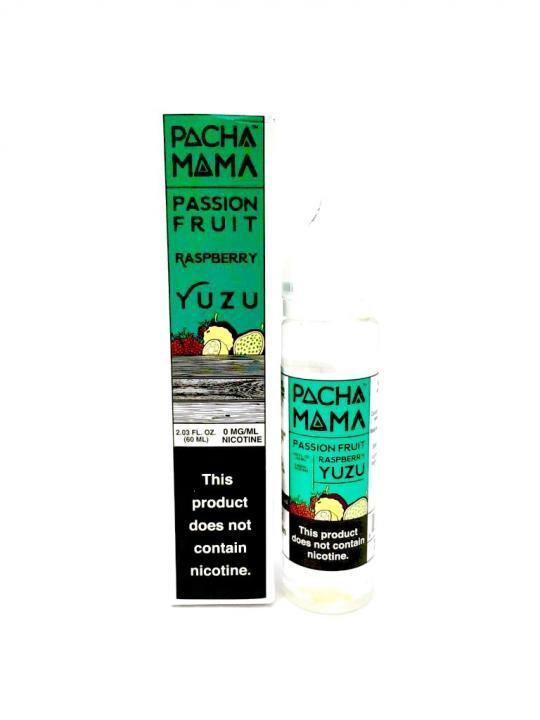 Passion Fruit, Raspberry & Yuzu Shortfill by Pacha Mama