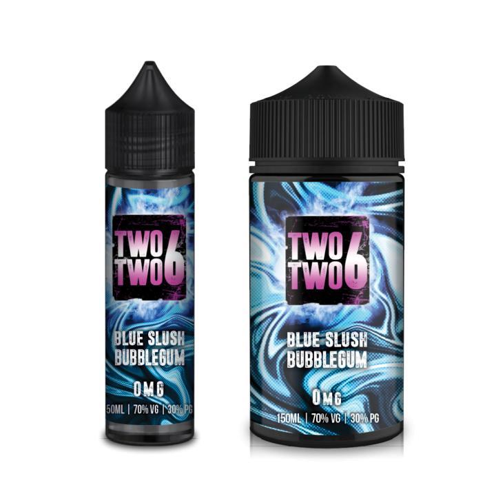 Blue Slush Bubblegum Shortfill by Two Two 6